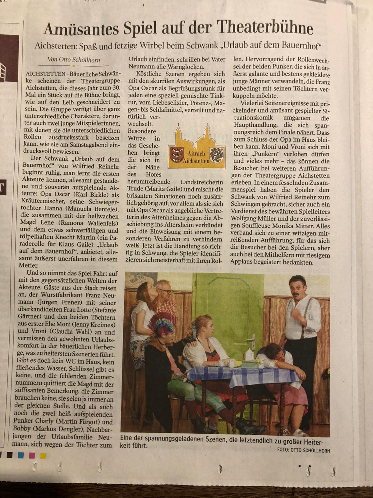 Schwäbische Zeitung 16-11-2019